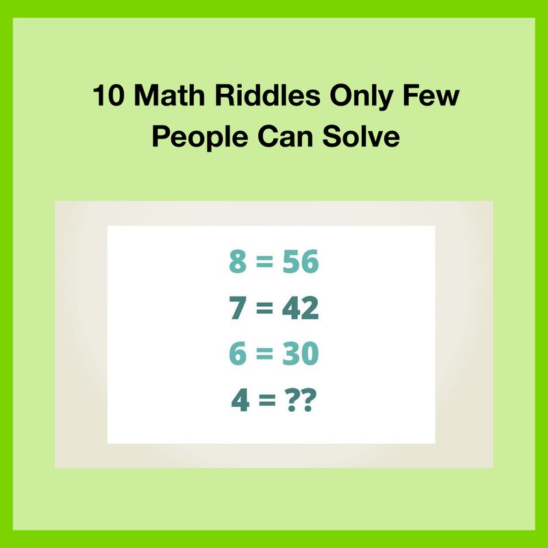 Can you find the right solution to the riddle?