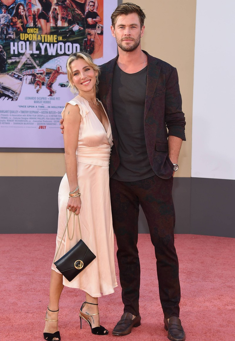 Elsa Pataky is significantly smaller than Chris Hemsworth.