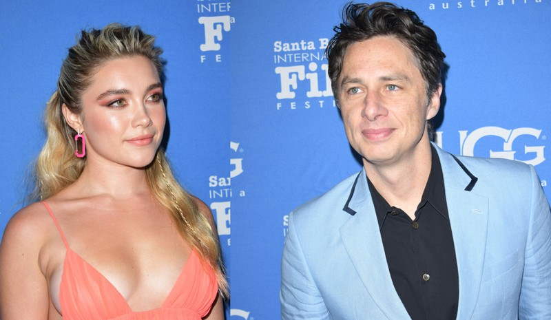Florence Pugh and Zach Braff have an age gap of 21 years.
