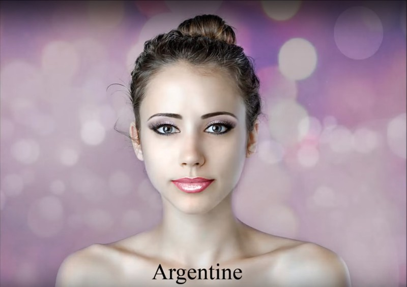 An Argentine Photoshop artist goes for strong makeup.