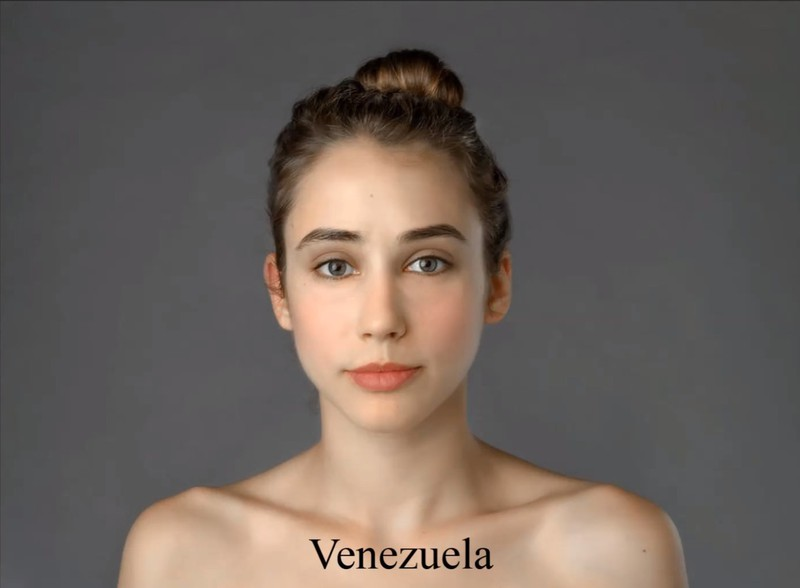 For the Venezuelan ideal, Esther was merely given a rosy skin tone.