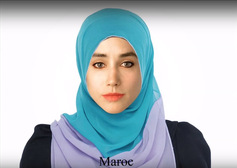 From the Moroccan Photoshop artist the young woman got a headscarf and emphasized eyes.