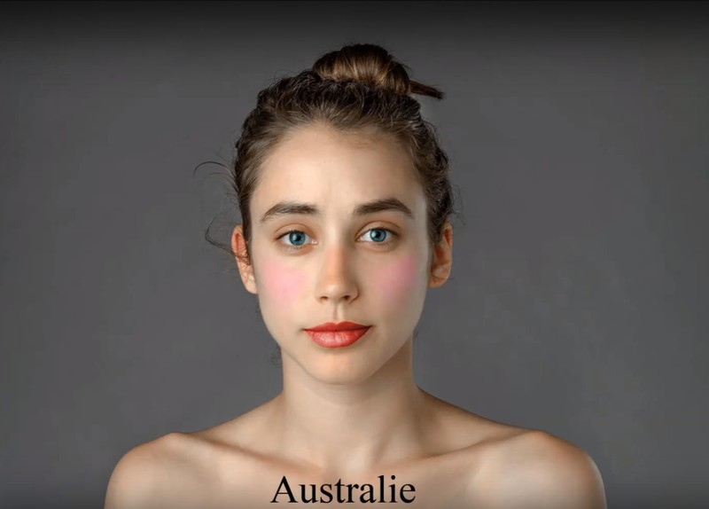In Australia, the focus of makeup is on the lips.