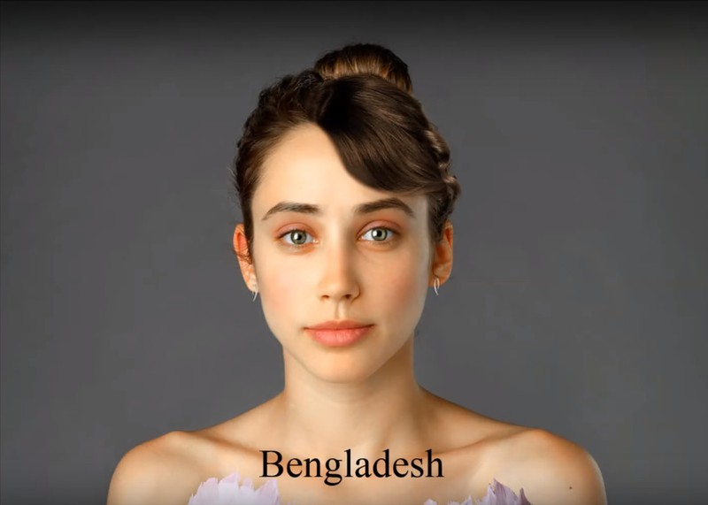 In Bangladesh, a natural look seems to be the ideal.
