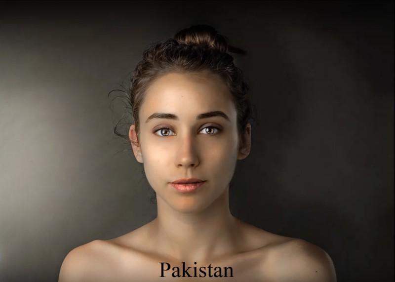 In Pakistan, it seems to turn golden brown, radiant skin into a beauty.