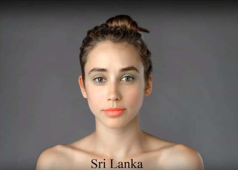 In Sri Lanka, pale skin and coral-colored lips are considered beautiful.