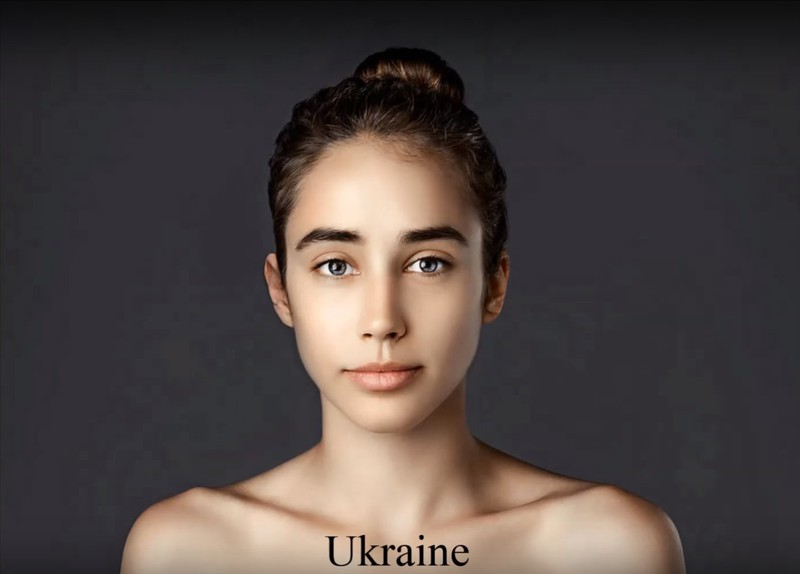 In Ukraine, a clear skin tone is considered the ideal.