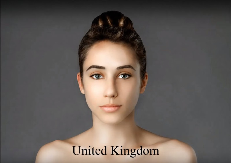 The British artist gave her a rather unnatural look.