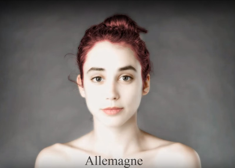 The German ideal of beauty includes porcelain skin.