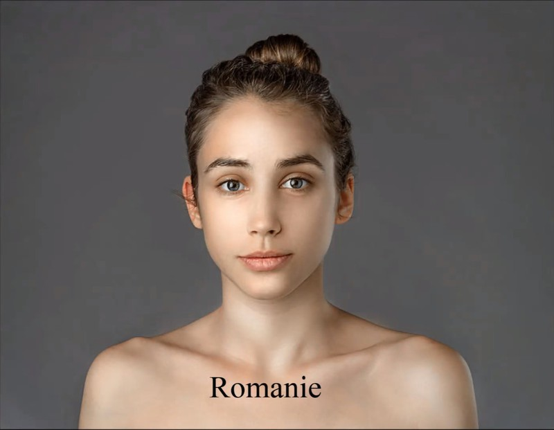 The Romanian artist has merely made her skin free of pores.