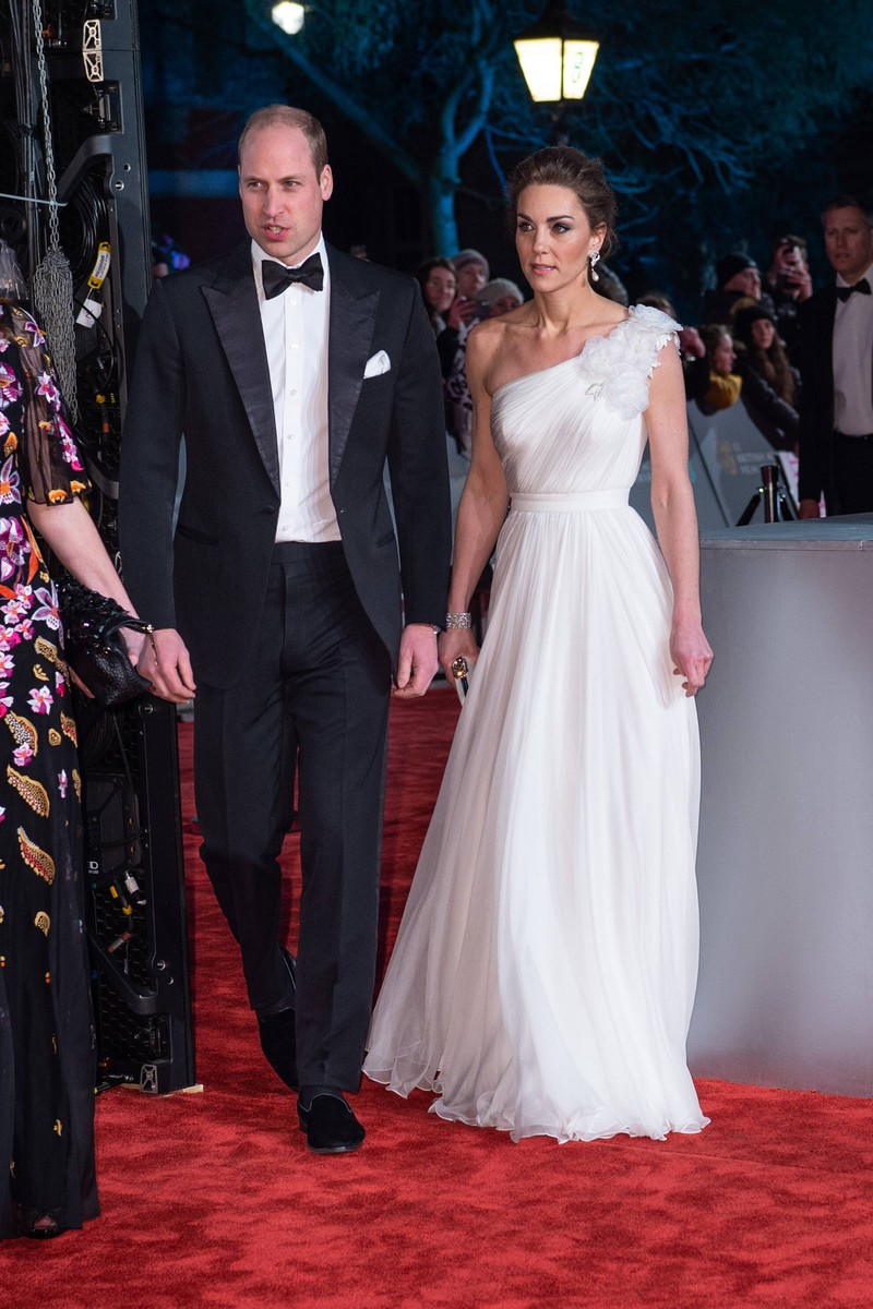 Kate wore a beautiful white dress to the BAFTA Awards in 2019.
