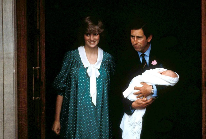 Princess Diana wore a dress with polka dots after giving birth to Prince William.